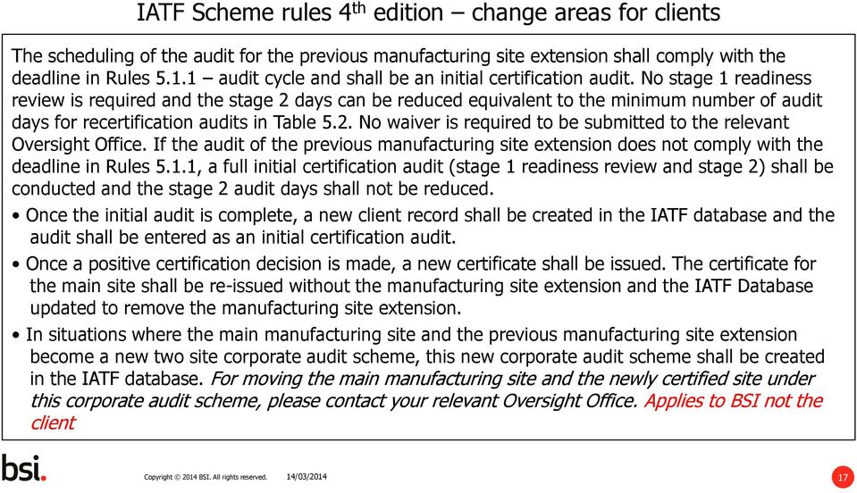 If the audit of the previous manufacturing site extension does not comply with the deadline in Rules 5.1.