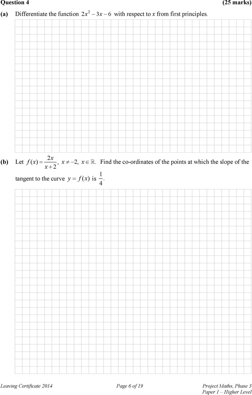 Find the co-ordinates of the points at which the slope of the x 2 tangent