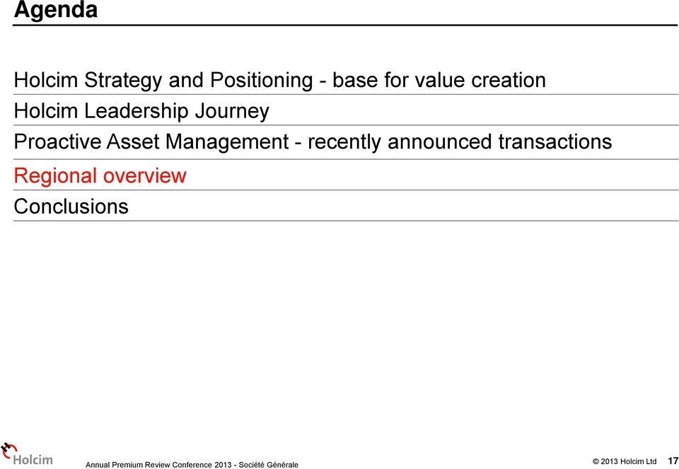 Proactive Asset Management - recently