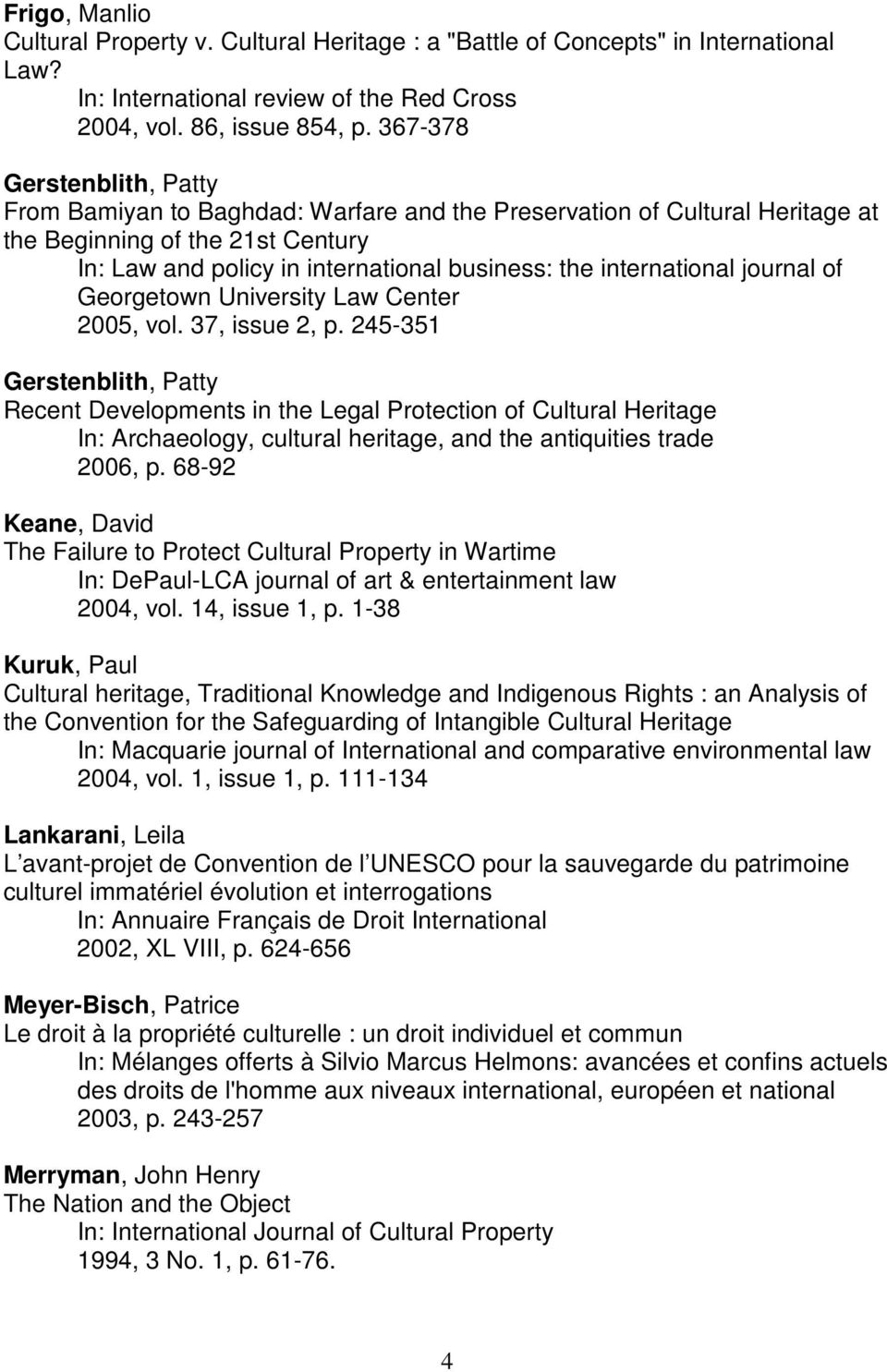 international journal of Georgetown University Law Center 2005, vol. 37, issue 2, p.