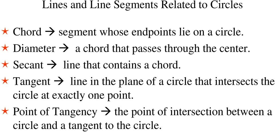Secant line that contains a chord.