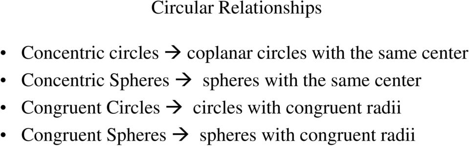 with the same center Congruent Circles circles with