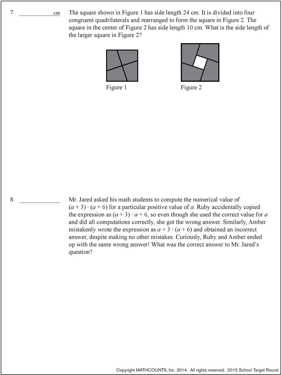 2015 school competition target round problems 1 2 pdf jared asked his math students to compute the numerical value of a 3 fandeluxe Gallery
