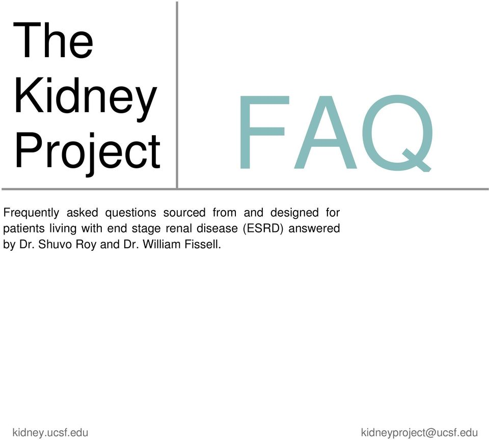 stage renal disease (ESRD) answered by Dr.