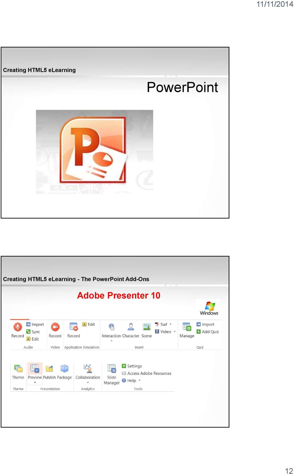 PowerPoint Add-Ons Adobe