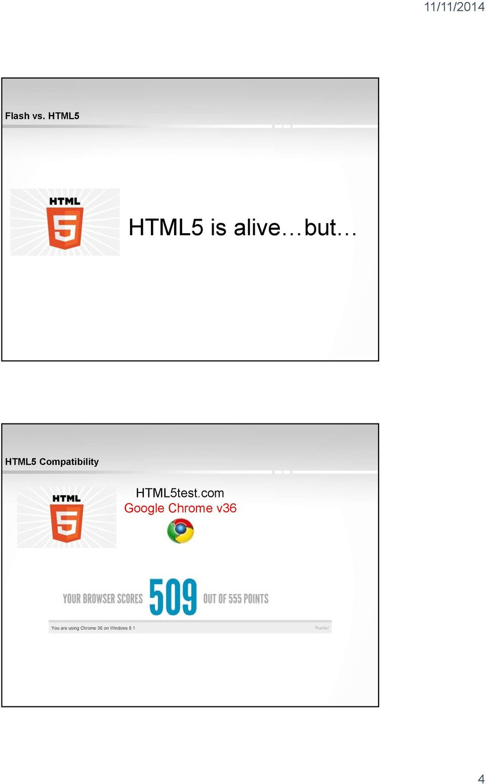 but HTML5