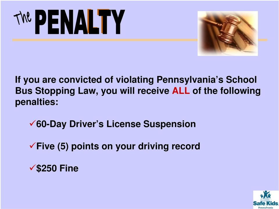 the following penalties: 60-Day Driver s License