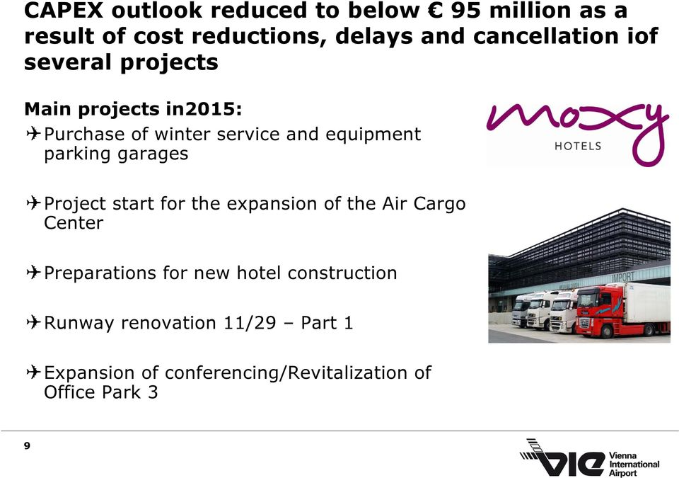 equipment parking garages Project start for the expansion of the Air Cargo Center Preparations