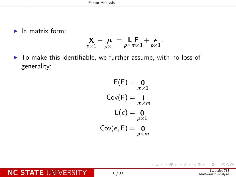 further assume, with no loss of generality: E(F) =