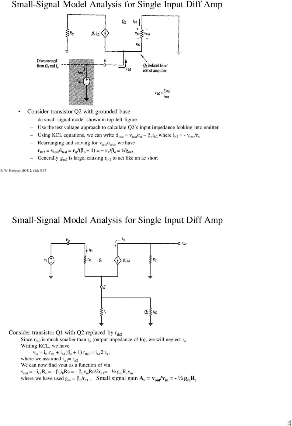 Differential Amplifiers Chapter 8 In Horenstein Pdf Calculate Output Impedance Of Transistor Electronics And Electrical O 1 R G M2 Generally