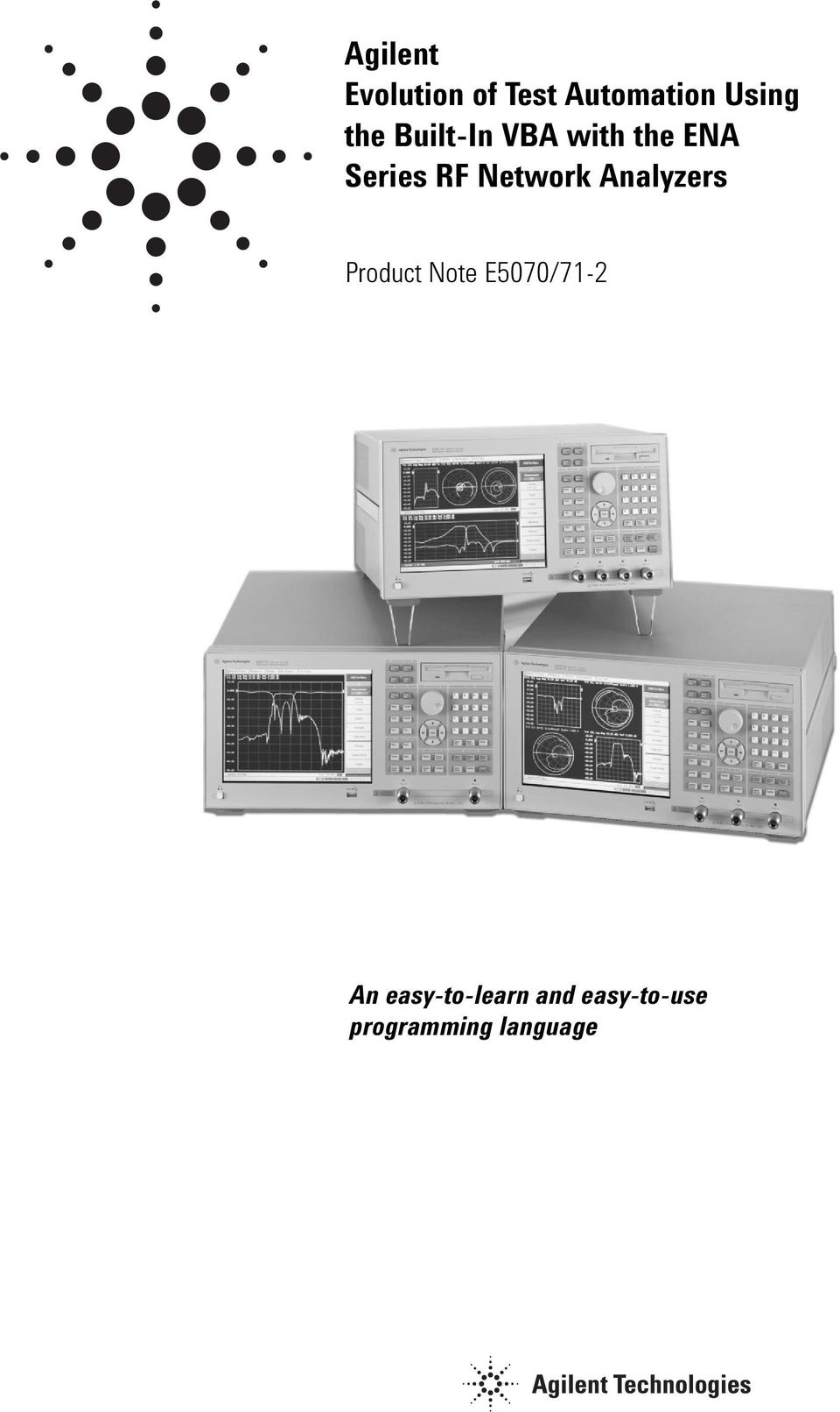 Network Analyzers Product Note E5070/71-2 An