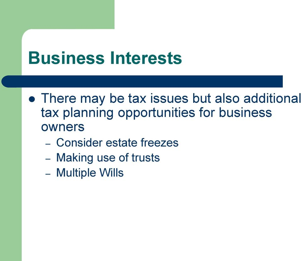 opportunities for business owners Consider