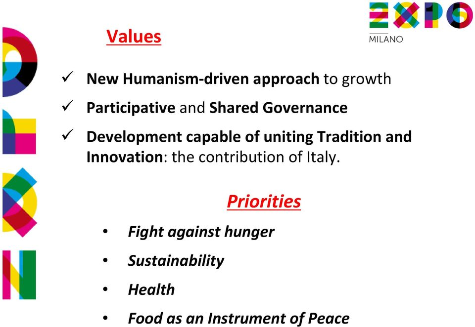 and Innovation: the contribution of Italy.