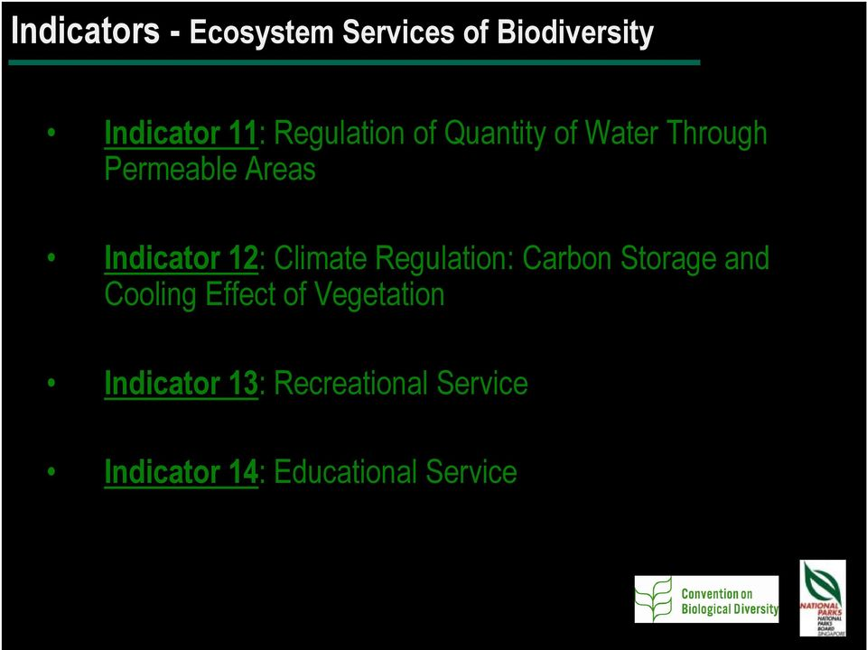12: Climate Regulation: Carbon Storage and Cooling Effect of