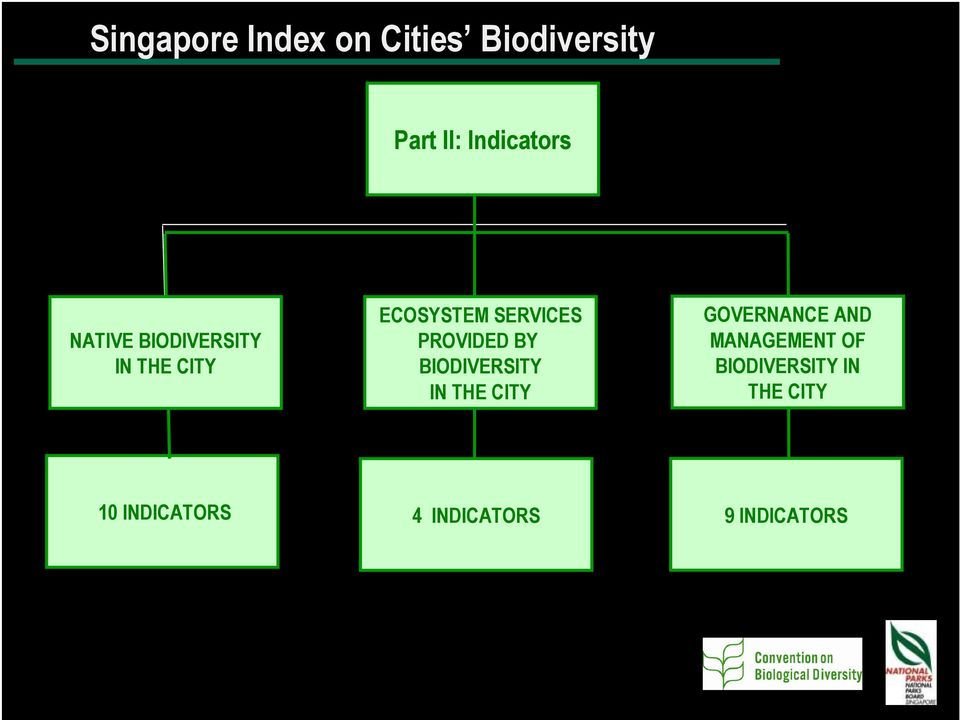 BY BIODIVERSITY IN THE CITY GOVERNANCE AND MANAGEMENT OF