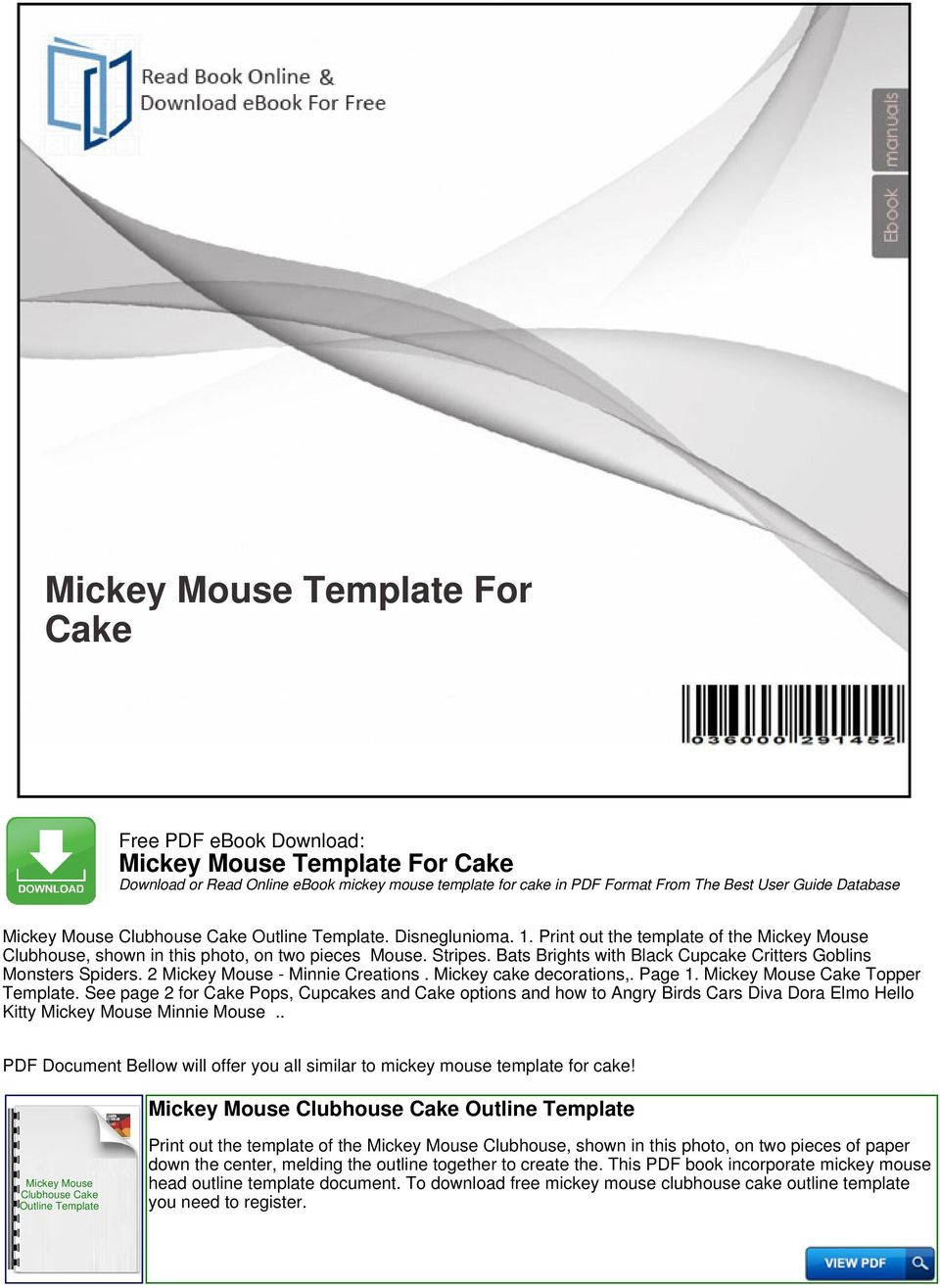 Mickey Mouse Template For Cake Pdf