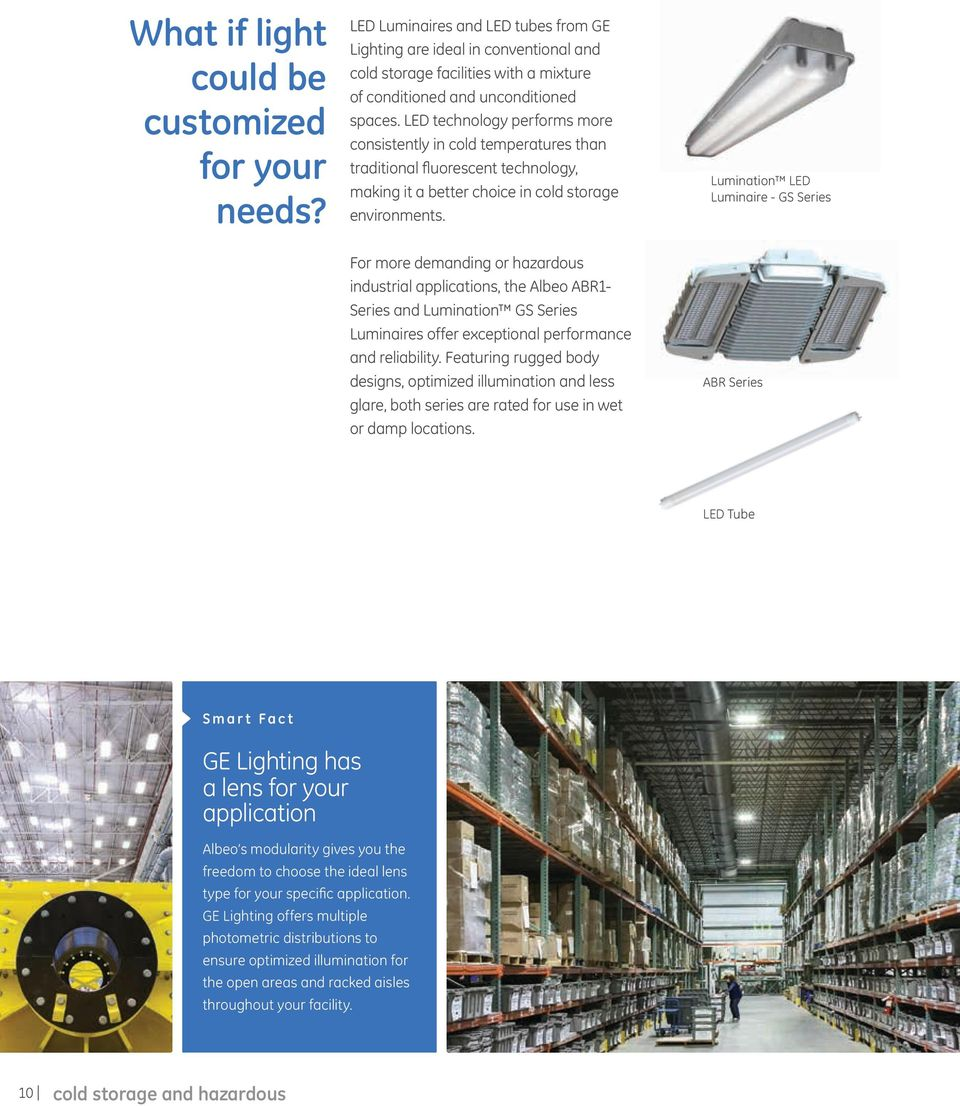 LED technology performs more consistently in cold temperatures than traditional fluorescent technology, making it a better choice in cold storage environments.