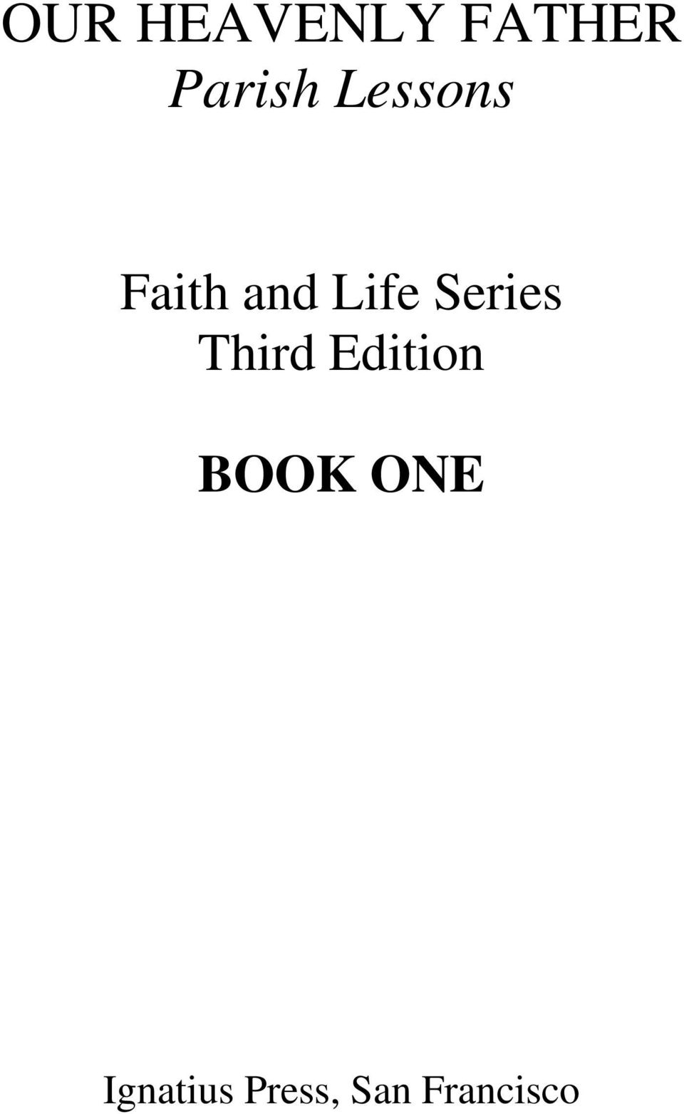 Series Third Edition BOOK