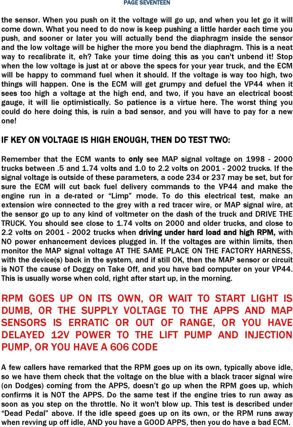 HOW TO DIAGNOSE VP44 FUEL SYSTEM ISSUES - PDF