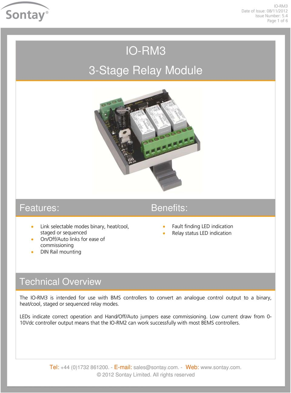controllers to convert an analogue control output to a binary, heat/cool, staged or sequenced relay modes.