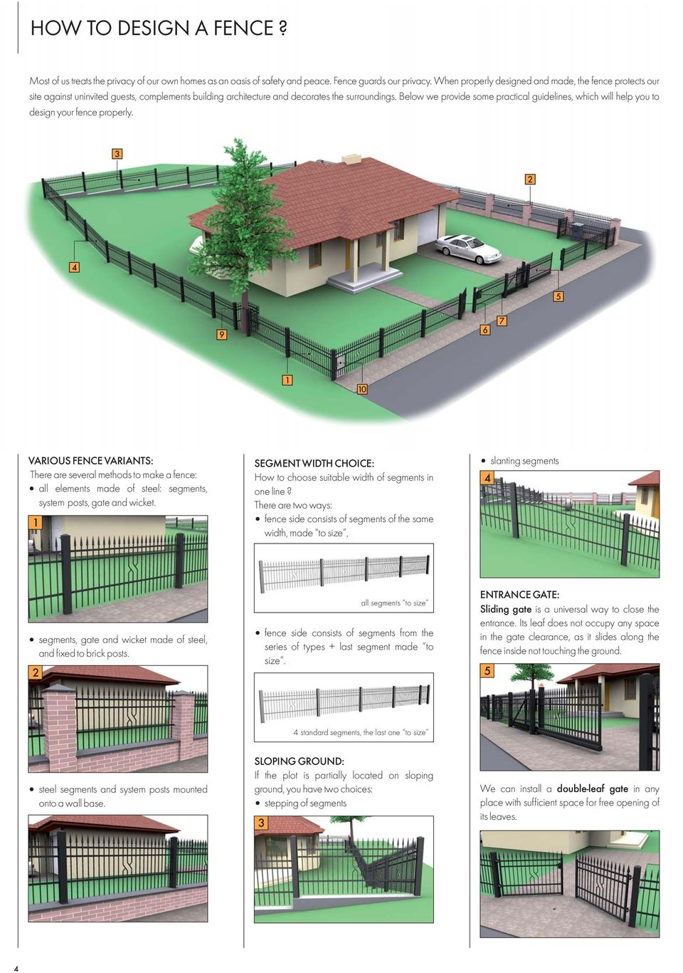 Below we provide some practical guidelines, which will help you to your fence properly.