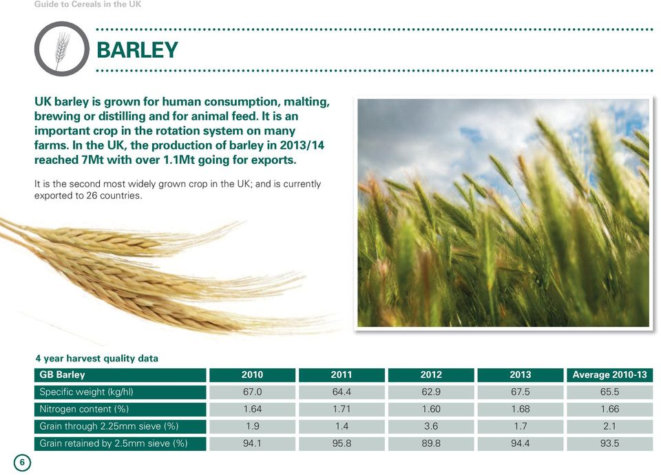 It is the second most widely grown crop in the UK; and is currently exported to 26 countries.