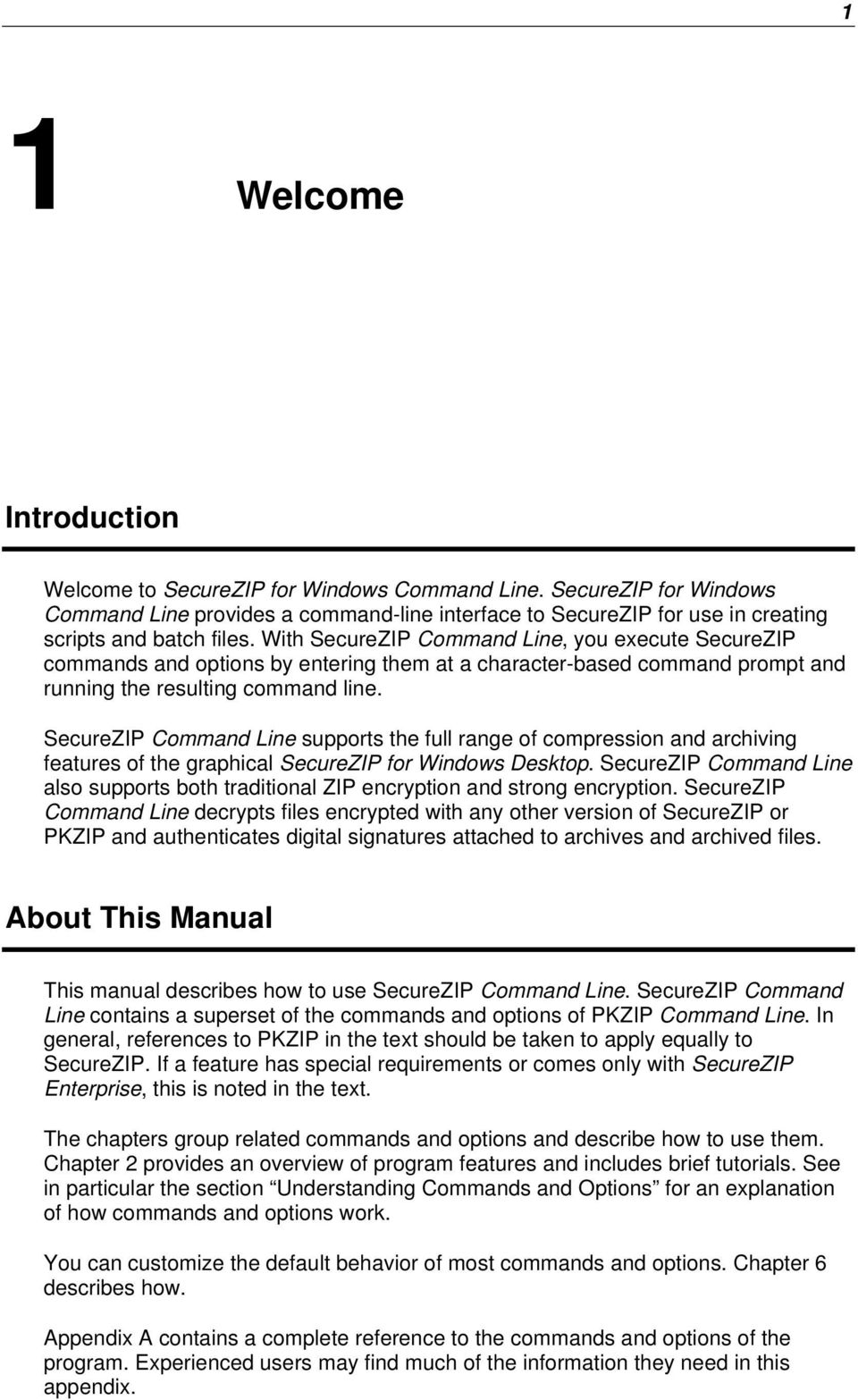 SecureZIP for Windows Command Line  Users Manual - PDF