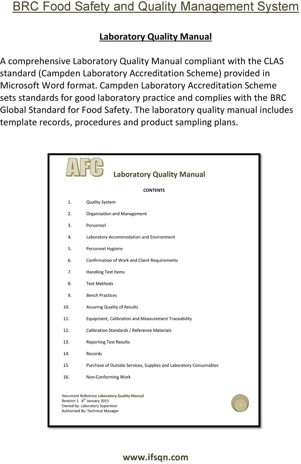 Campden Laboratory Accreditation Scheme sets standards for good laboratory practice and complies with