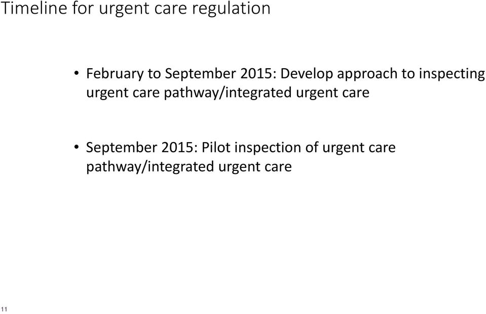 care pathway/integrated urgent care September 2015: