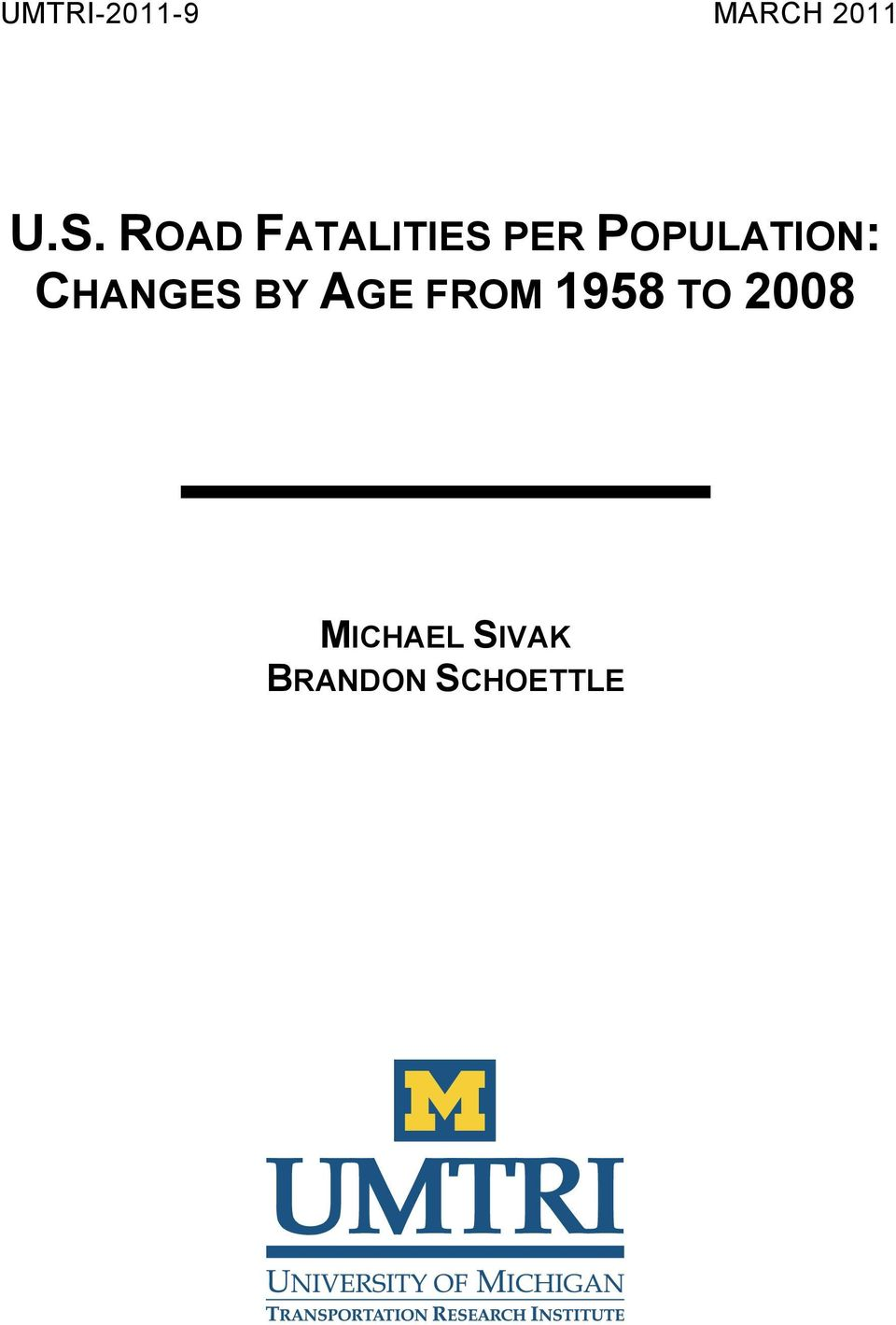 CHANGES BY AGE FROM 1958 TO