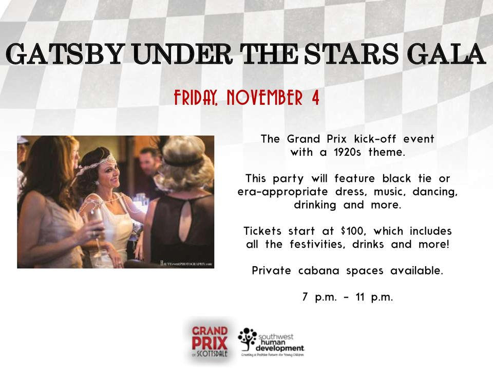 This party will feature black tie or era-appropriate dress, music, dancing,