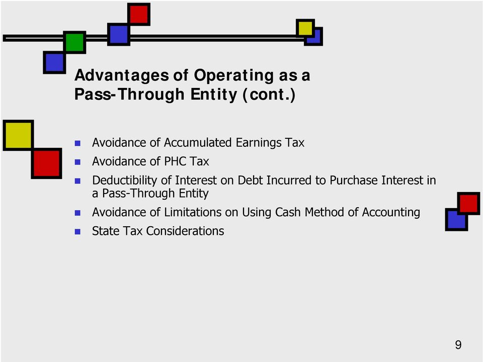 Deductibility of Interest on Debt Incurred to Purchase Interest in a