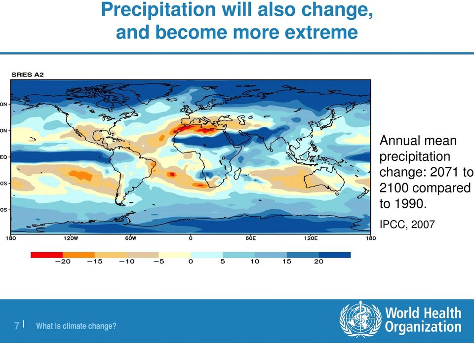 precipitation change: 2071 to 2100