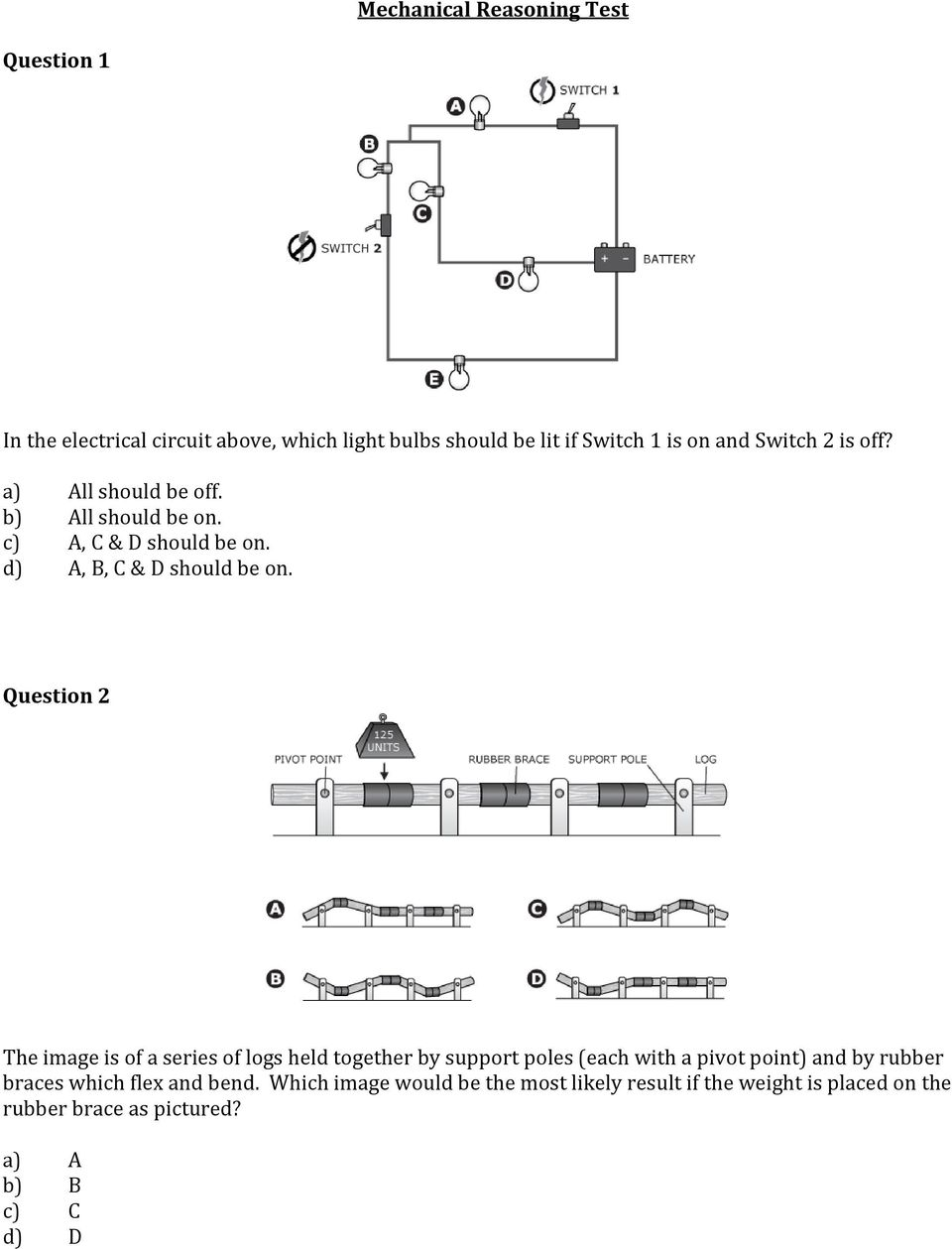 Mechanical reasoning test questions and answers pdf