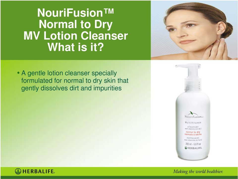 A gentle lotion cleanser specially