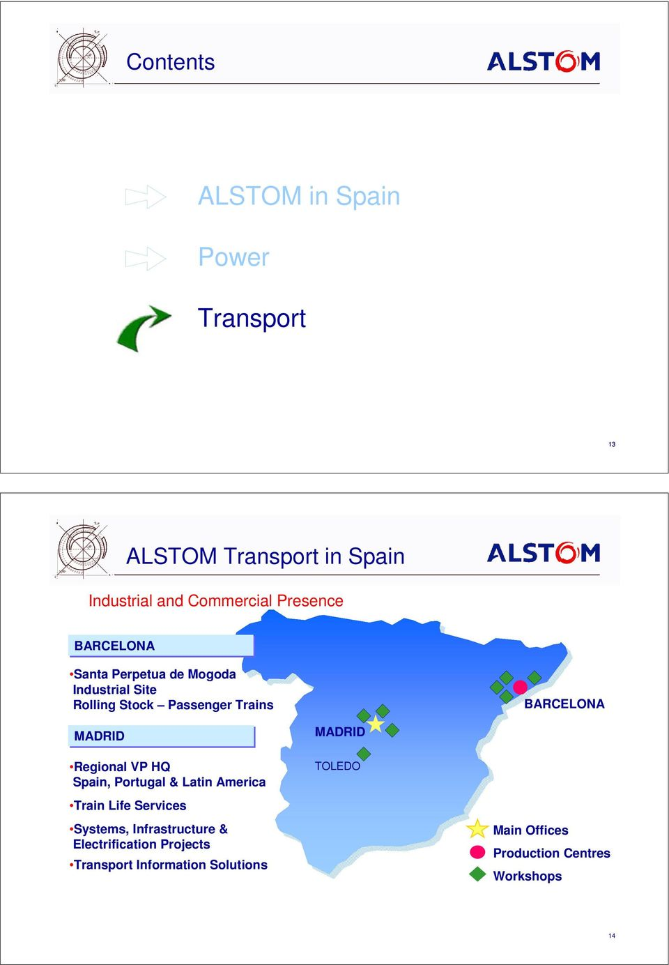 MADRID Regional VP HQ Spain, Portugal & Latin America MADRID TOLEDO Train Life Services Systems,