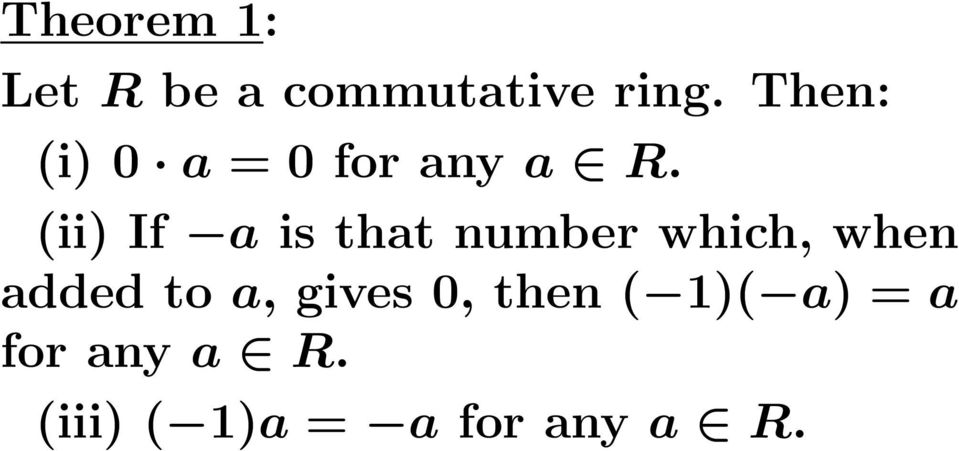 (ii) If a is that number which, when added to