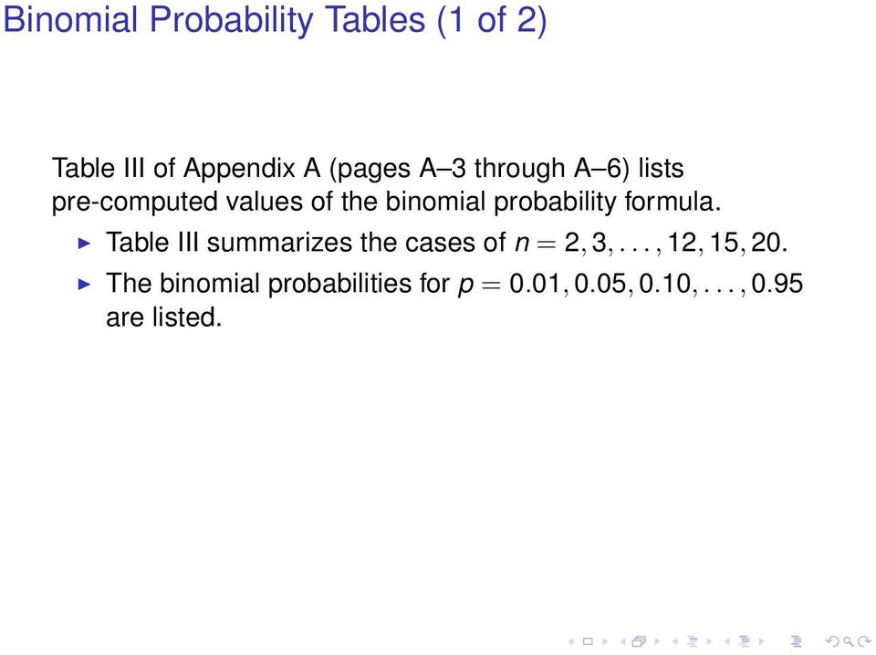 formula. Table III summarizes the cases of n = 2, 3,..., 12, 15, 20.
