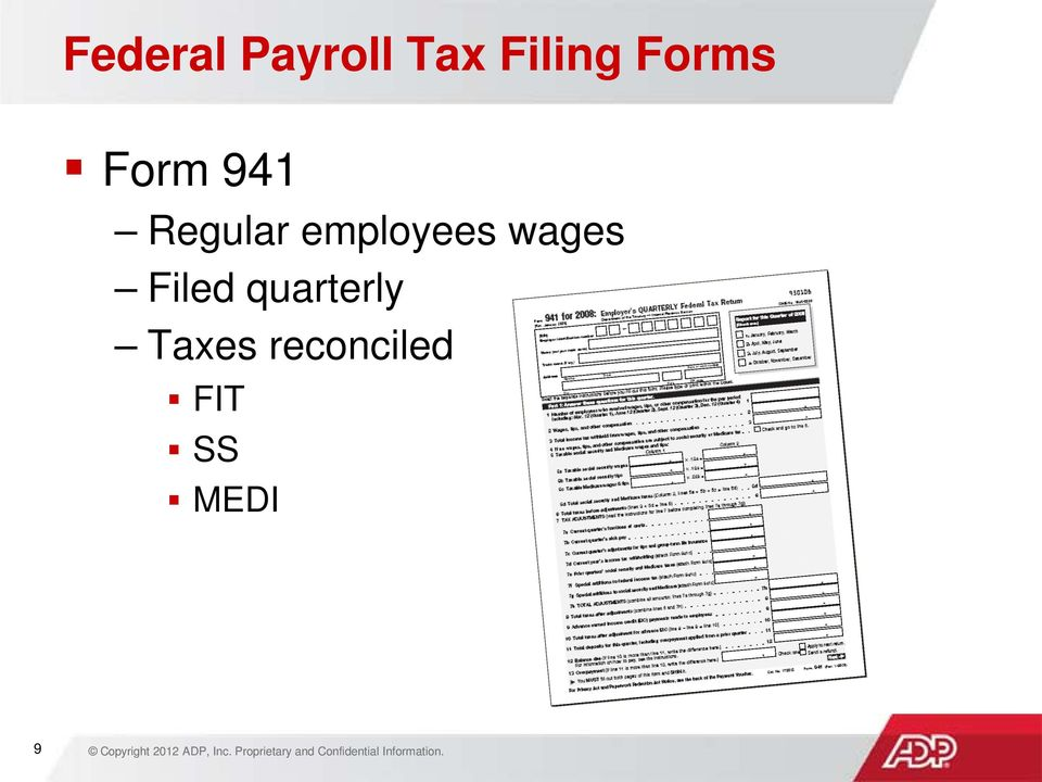 Payroll Tax Filing Basics  Audio for this session will play