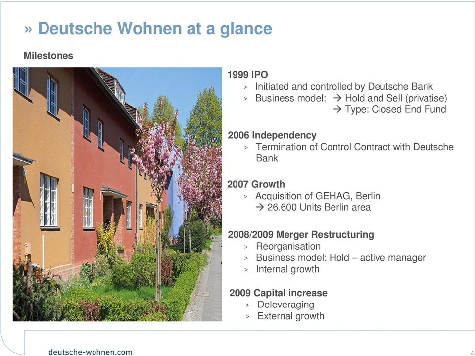 Bank 2007 Growth > Acquisition of GEHAG, Berlin 26.