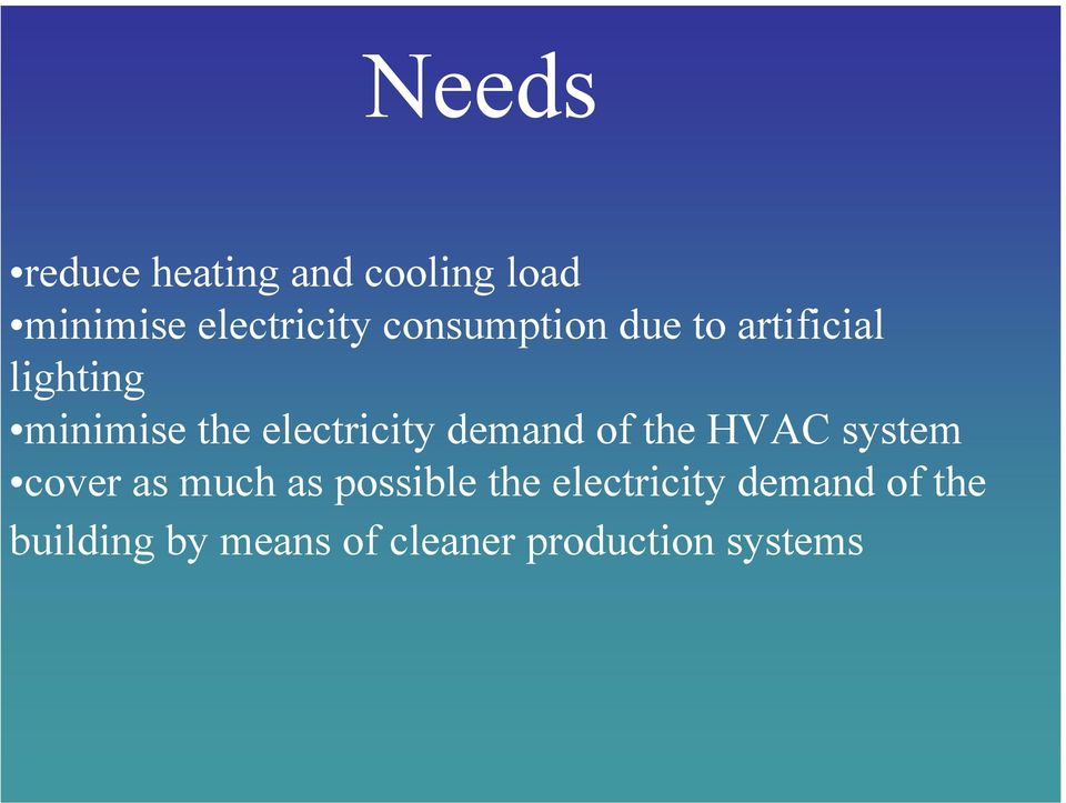 electricity demand of the HVAC system cover as much as