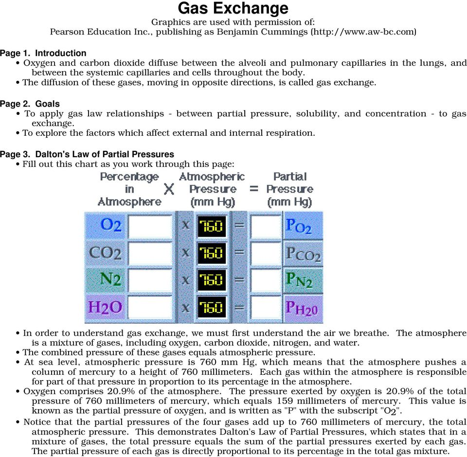 The diffusion of these gases, moving in opposite directions, is called gas exchange. Page 2.