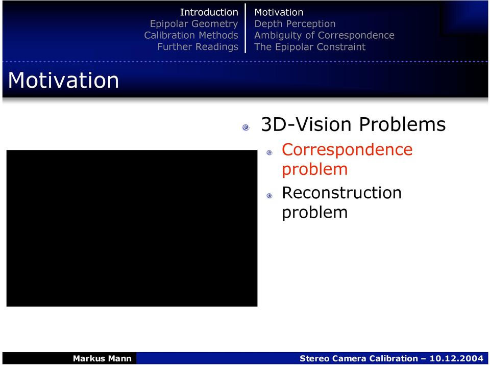 Constraint Motivation 3D-Vision