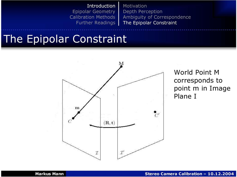 Constraint The Epipolar Constraint
