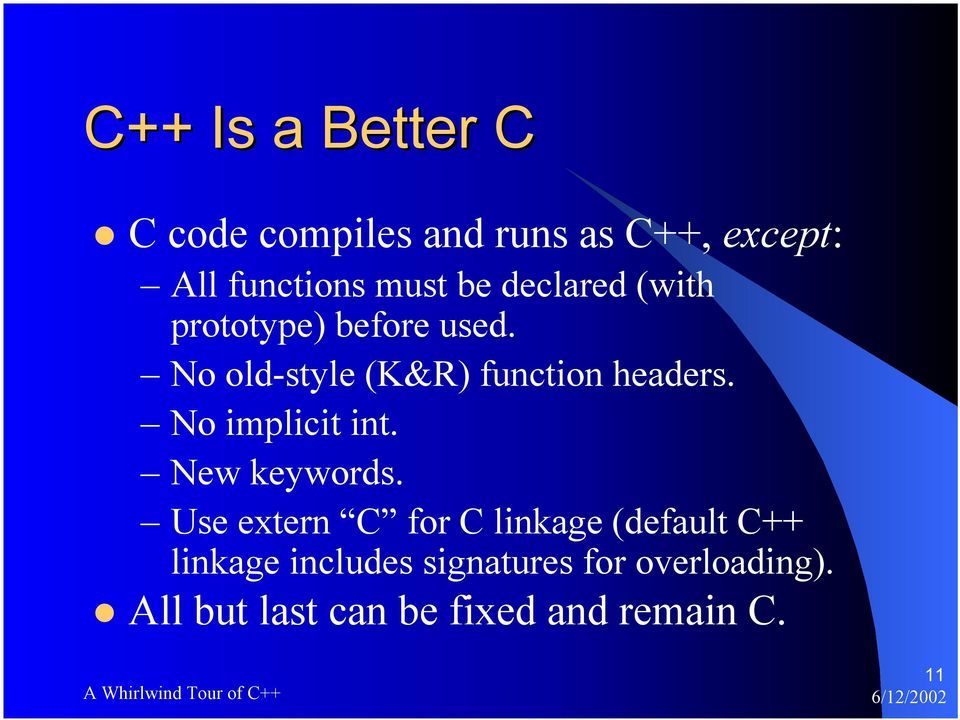 A Whirlwind Tour of C++ - PDF