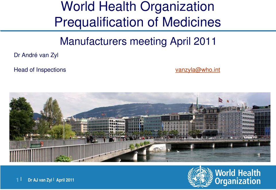 Medicines Manufacturers meeting