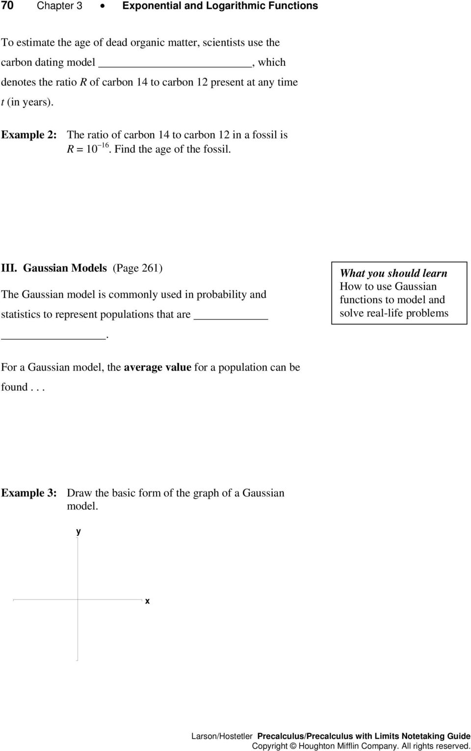 Gussin Models (Pge 26) The Gussin model is commonl used in probbilit nd sttistics to represent popultions tht re.