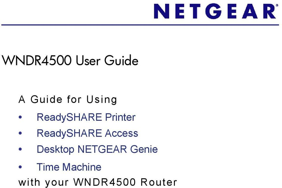 ReadySHARE Access Desktop NETGEAR