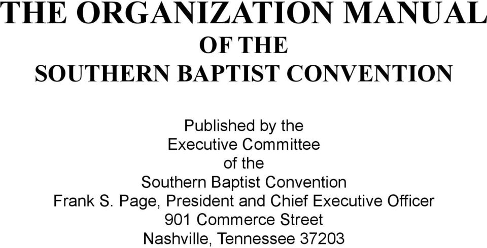 Southern Baptist Convention Frank S.