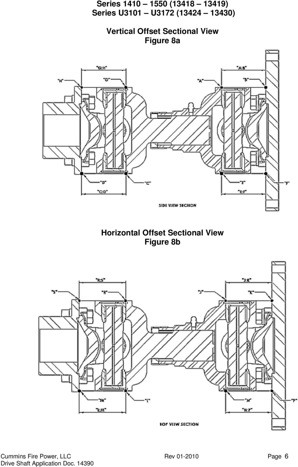 View Figure 8a Horizontal Offset Sectional View